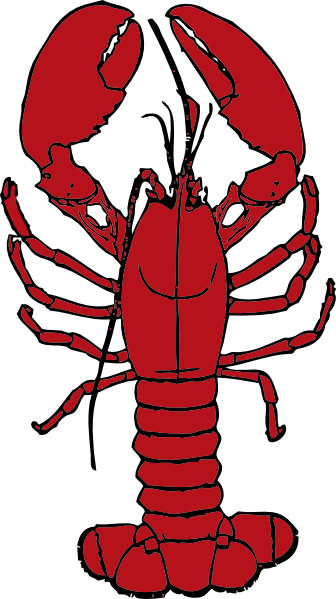 clip black and white library Lobster Clip Art Images