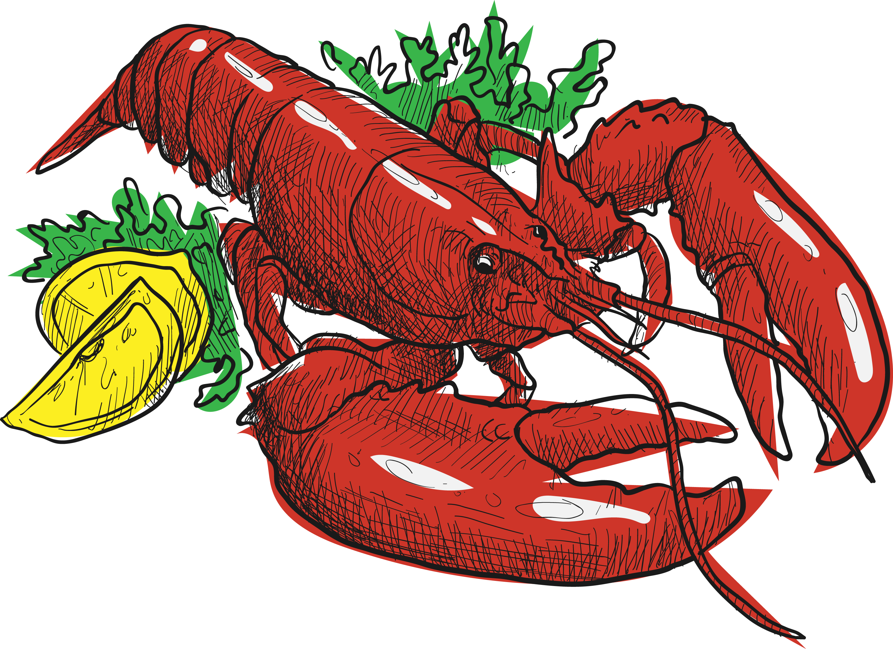 clipart royalty free stock American lobster Fish Food Red Lobster