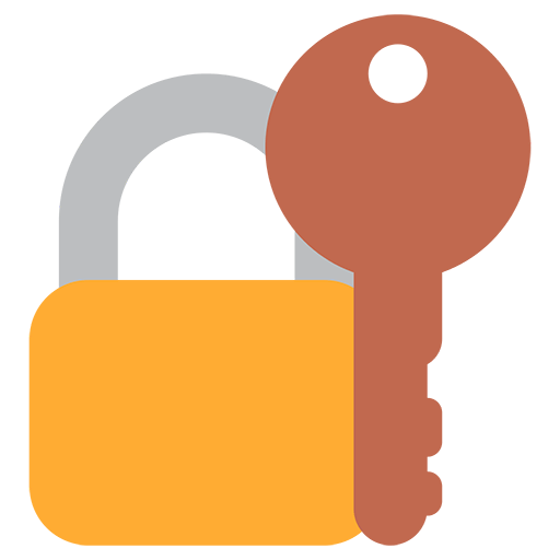 png transparent library Closed Lock With Key Emoji for Facebook