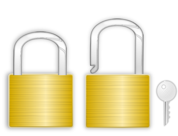 graphic stock Locks with clip art. Lock and key clipart