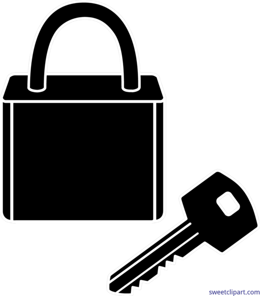 banner transparent stock Lock and key clipart. All clip art archives