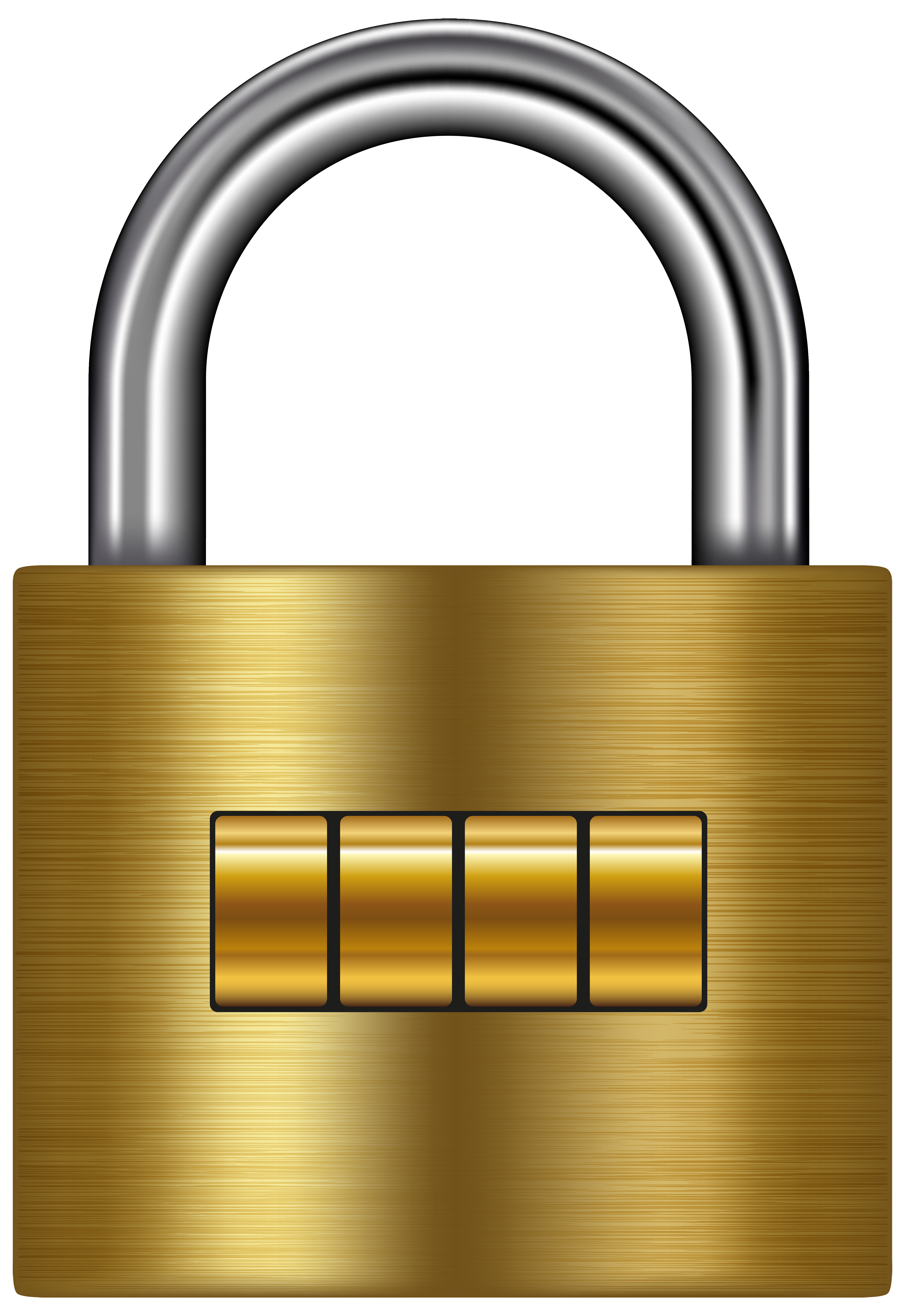 vector freeuse stock Lock clipart. Gold png clip art.