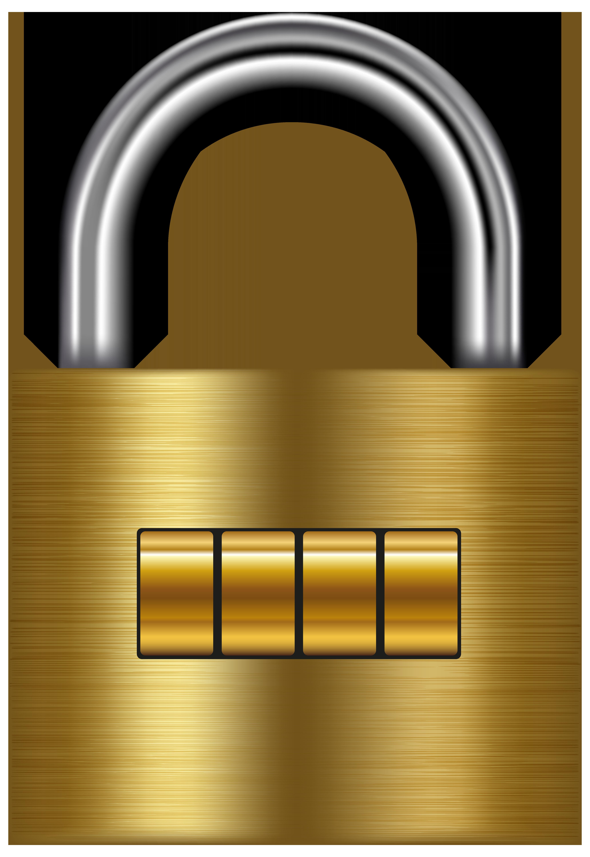 jpg black and white stock Padlock clipart golden. Lock gold png clip