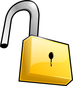 picture royalty free download Open Lock Clipart