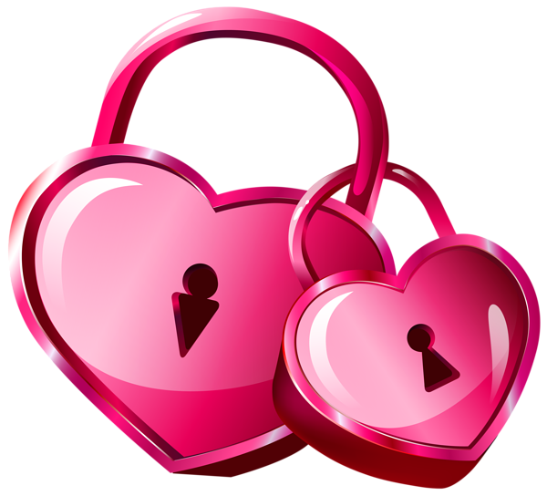 image library library Locks transparent png clip. Girly clipart heart