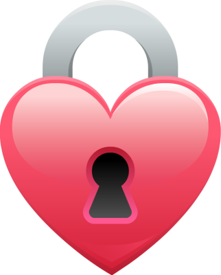 picture library library Shaped clip art panda. Lock clipart heart.