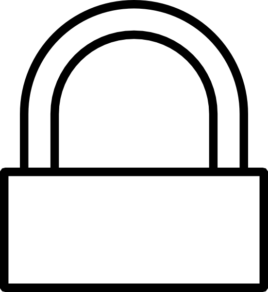 graphic free stock Simple Padlock Locked Clip Art at Clker