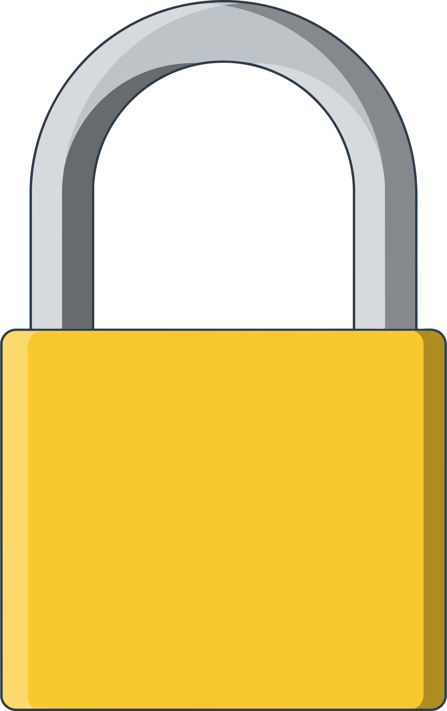 png download Lock clipart yellow. .