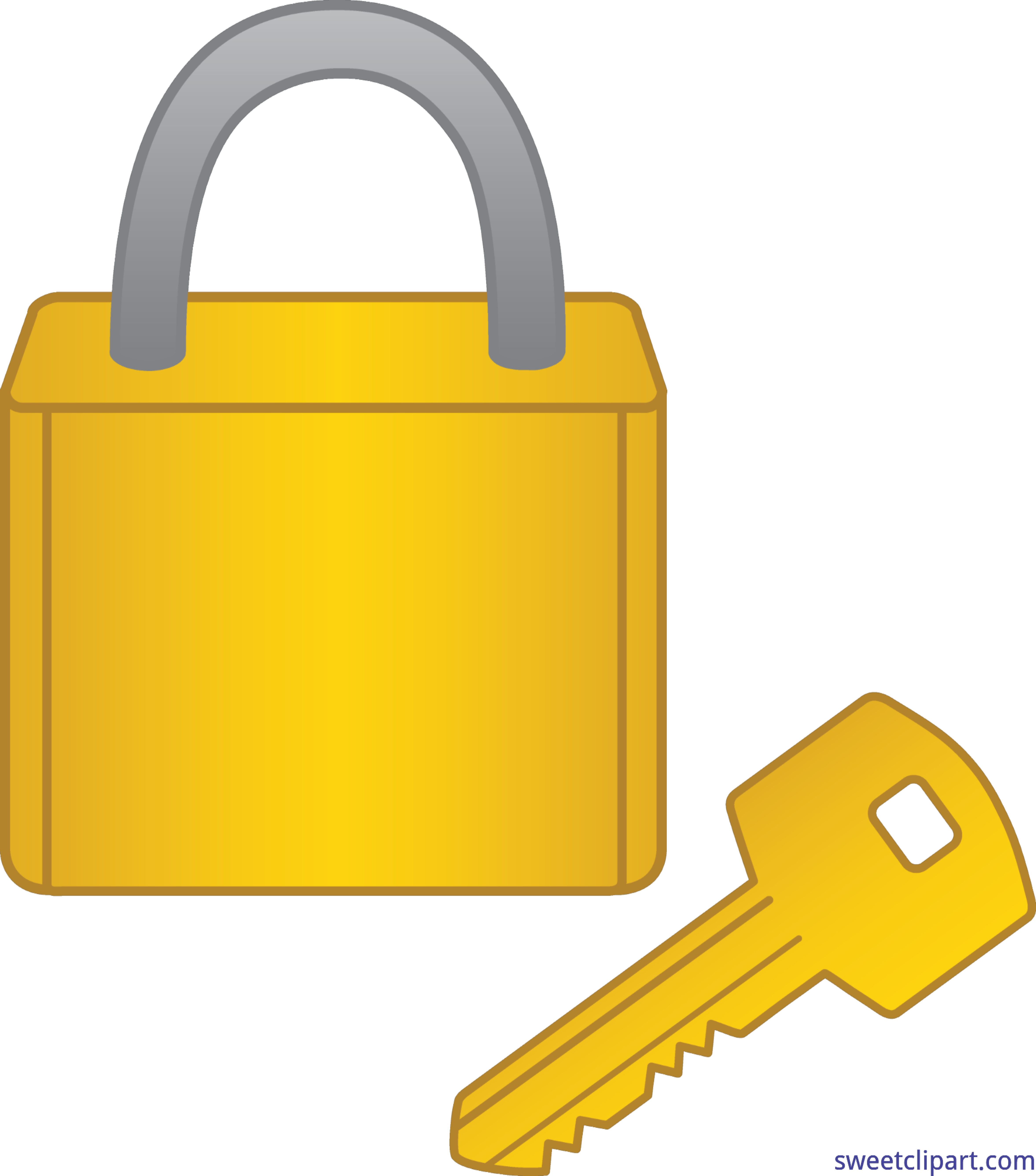 jpg freeuse download Lock clipart yellow. And key clip art.