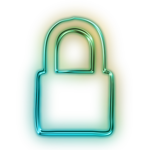 clipart transparent download lock transparent neon #114258741