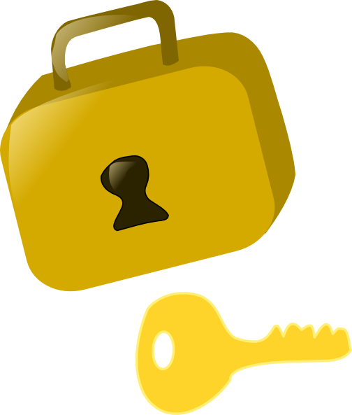 vector stock Clip art at clker. Key and lock clipart