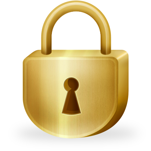 png Padlock clipart golden. Lock cilpart classy icon