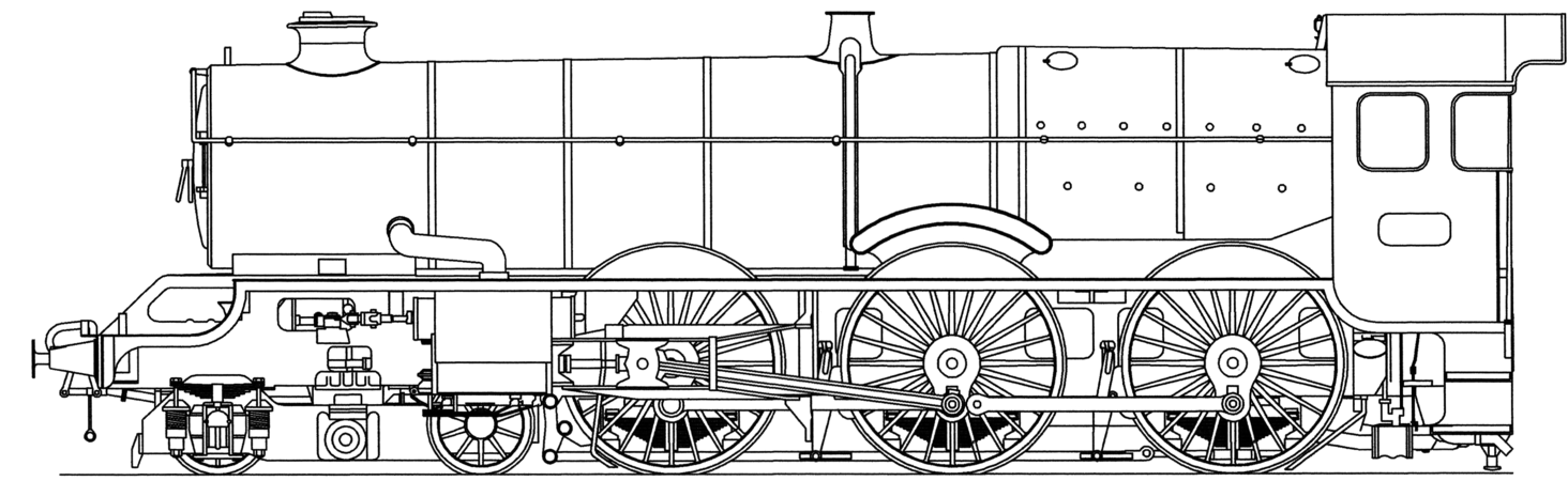 black and white library Steam locomotive Facts for Kids