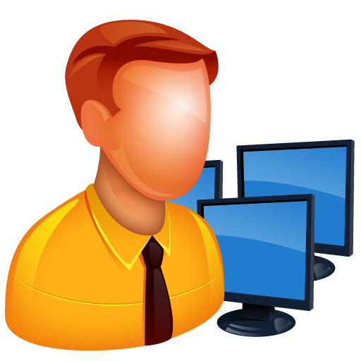transparent library Manager clipart warehouse supervisor. Software development system admin.