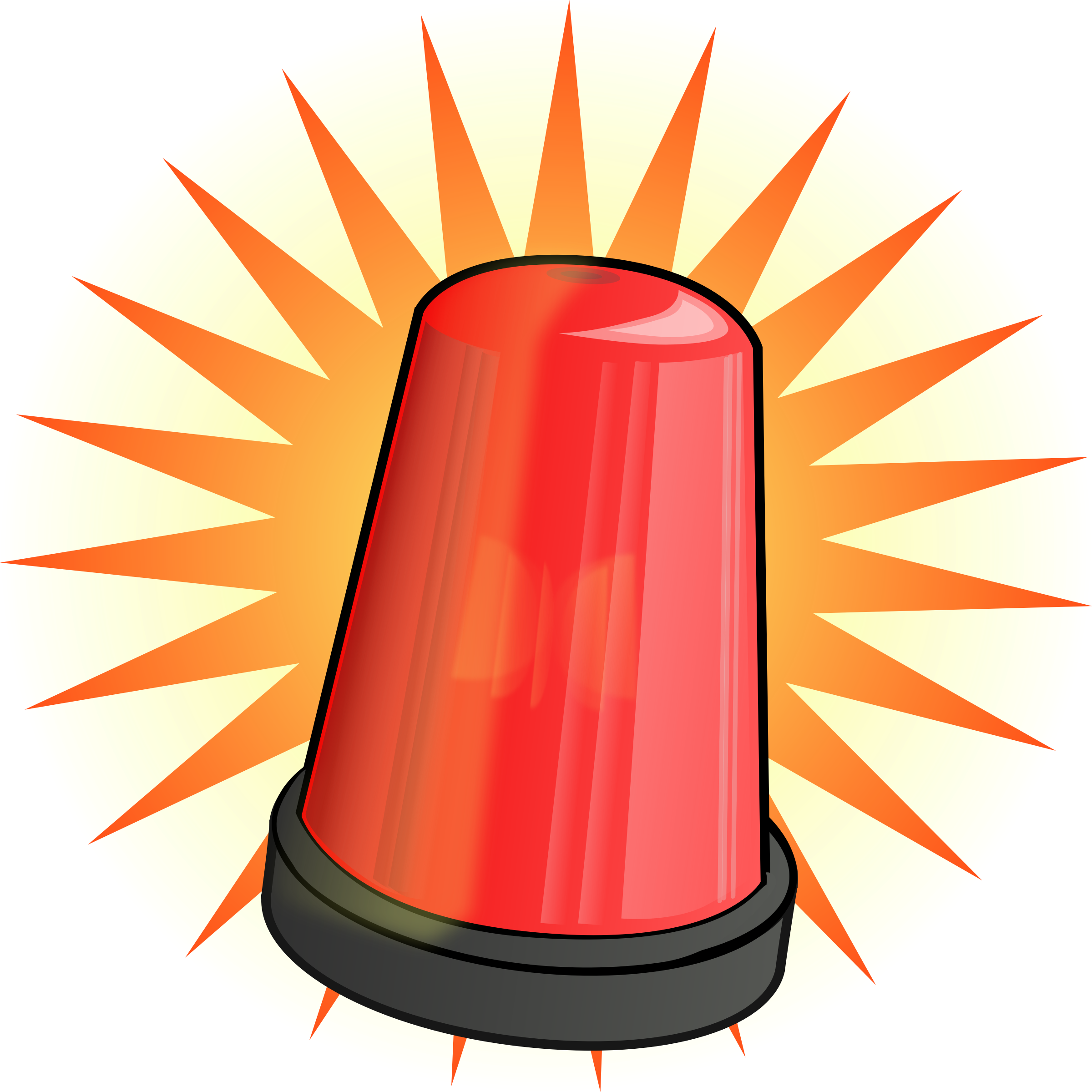 vector freeuse stock Log clipart red. Signal light big image.