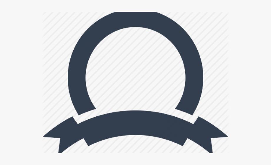 black and white library Award round ribbon circle. Logo clipart