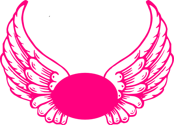 png royalty free download Logo clipart angel. Hot pink guardian wings.