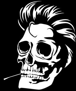 clip transparent library Somking logo ai free. Vector emblem skull