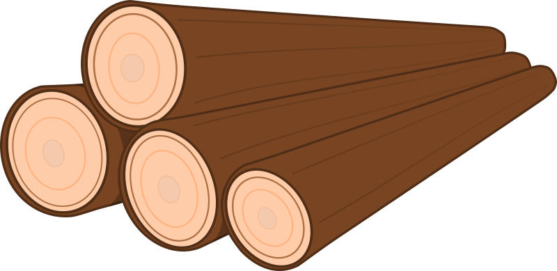 clip royalty free A pile of medium. Logs clipart