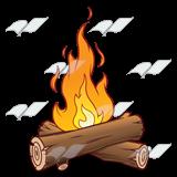 clip transparent Fire . Logs clipart