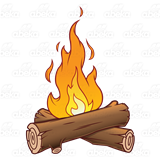 jpg free library logs clipart flame #41377168