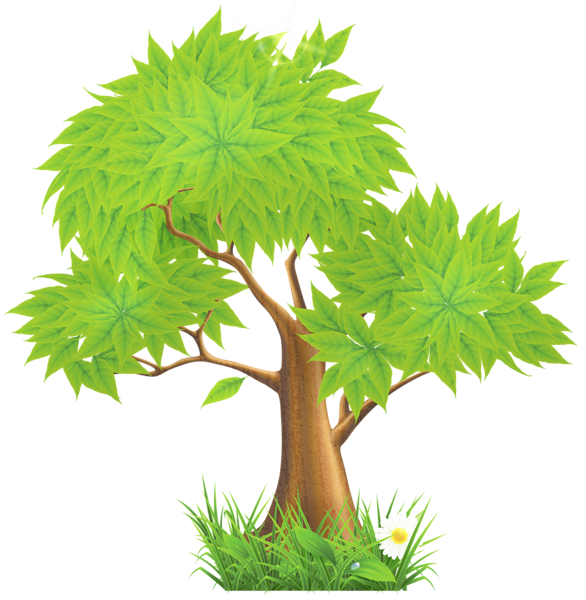 png library download Green Painted Tree PNG Clipart