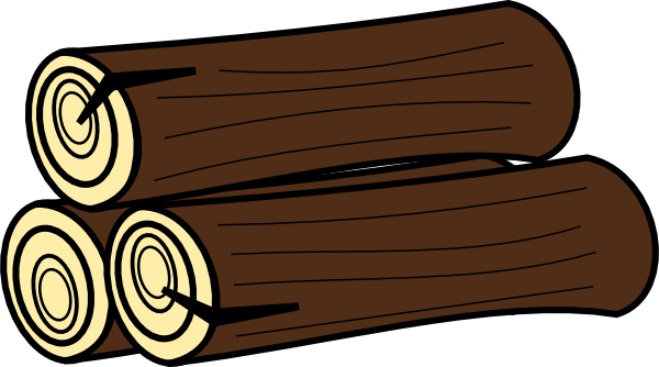 vector Logs clip art at. Firewood clipart