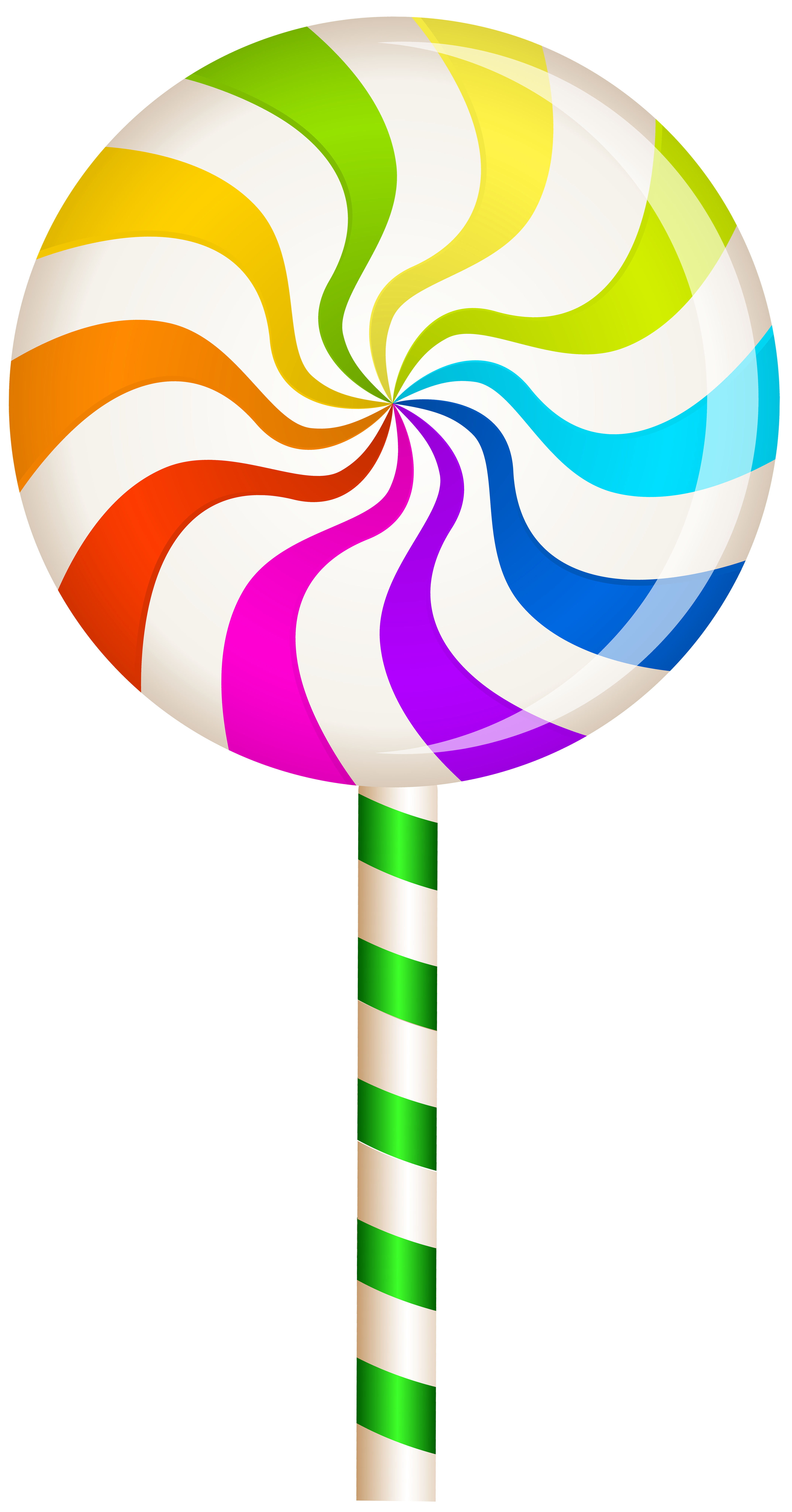 black and white Multicolor Swirl Lollipop PNG Clip Art Image