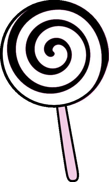 clip black and white Black and white . Lollipop clipart