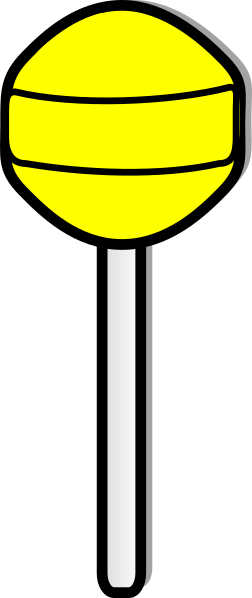 picture freeuse library Lollipop clipart. Yellow clip art at.