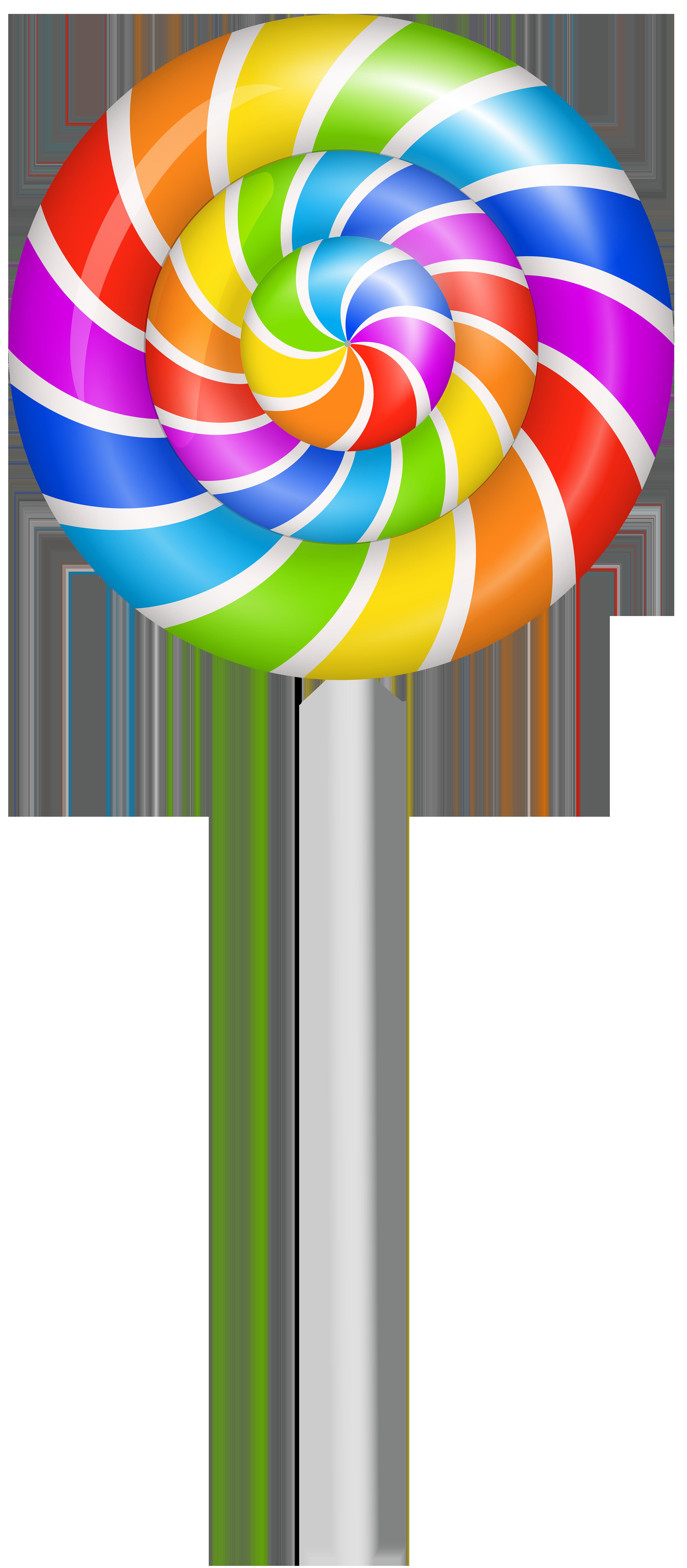 banner Colorful Lollipop PNG Clip Art Image
