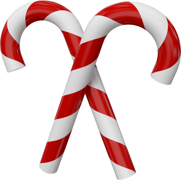 royalty free free Large Transparent Christmas Candy Canes