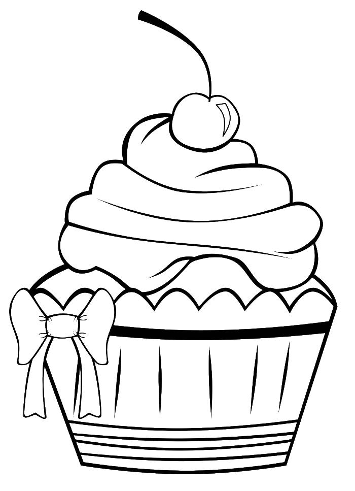 clip art library download A Very Pretty Cupcake Coloring Pages