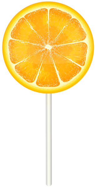 banner free download Orange Lollipop PNG Clip Art Image