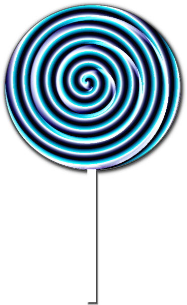 png black and white stock Swirly Blue Lollipop