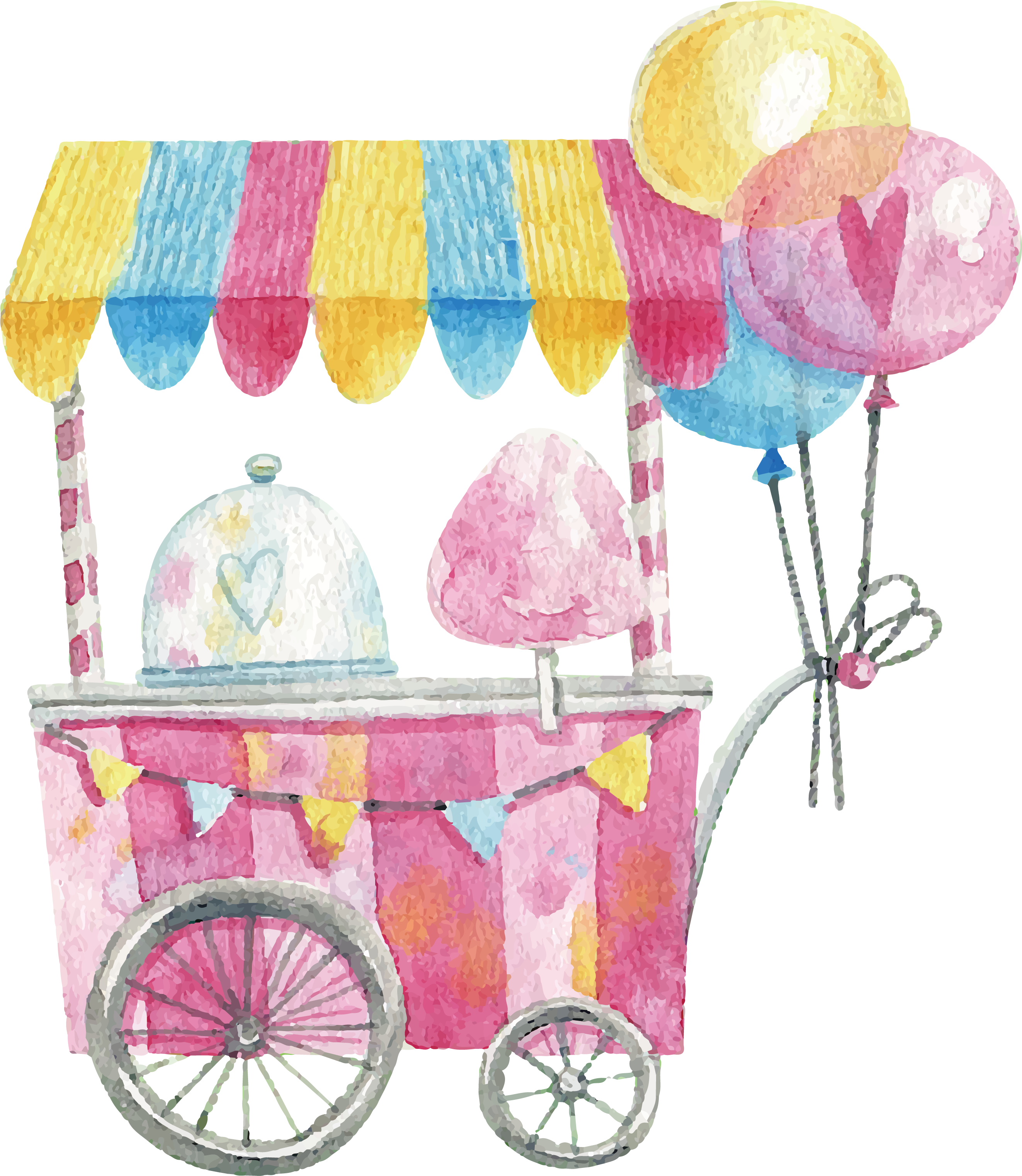 svg royalty free stock Vector candy watercolor. Cotton lollipop hand painted