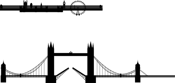 image library stock Brooklyn bridge clipart. London silhouette clip art