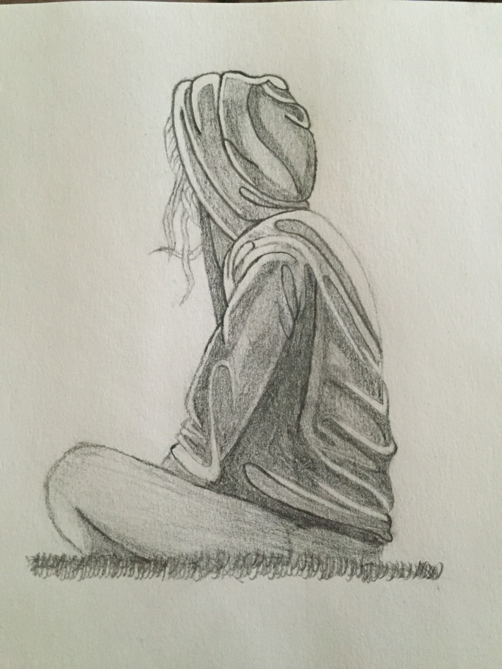 download Drawing sad lonely. Girl sketch at paintingvalley