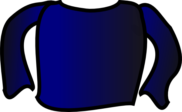 png black and white library Blue Long Sleeve Shirt Clip Art at Clker