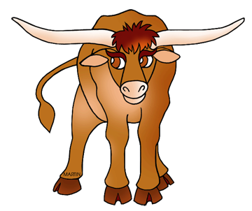 banner library Longhorn clipart. Cattle drive free on.