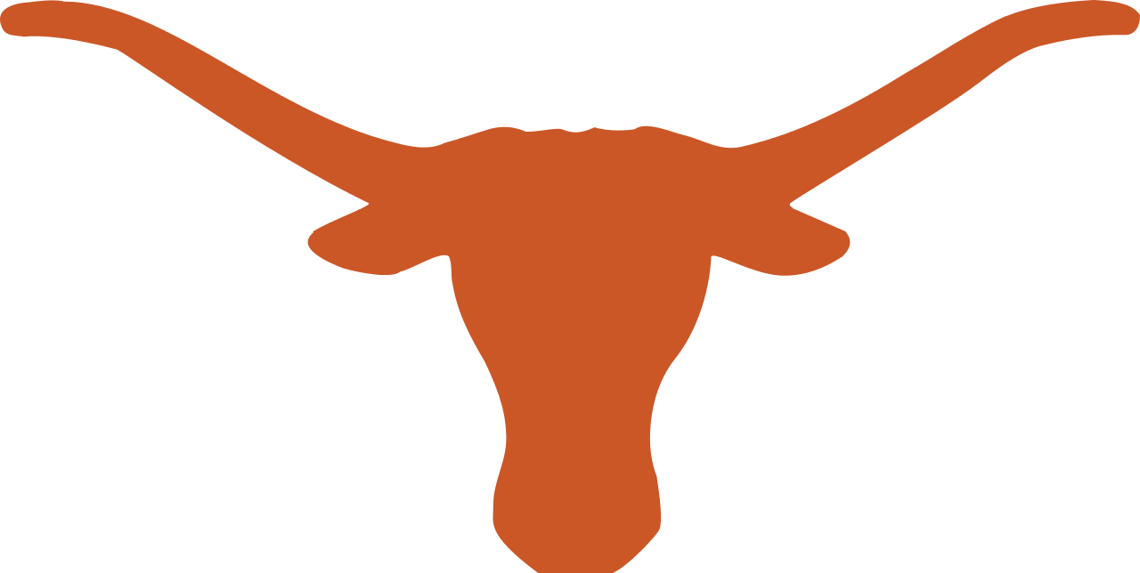 clip royalty free library Image px texas logo. Longhorn clipart line.