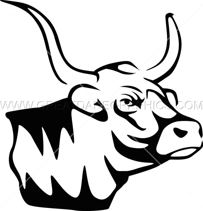 clipart freeuse Longhorn clipart line. Mascot production ready artwork.