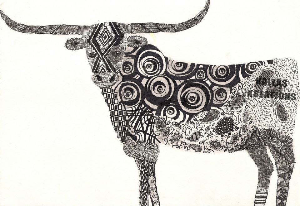 clip art black and white library Longhorn