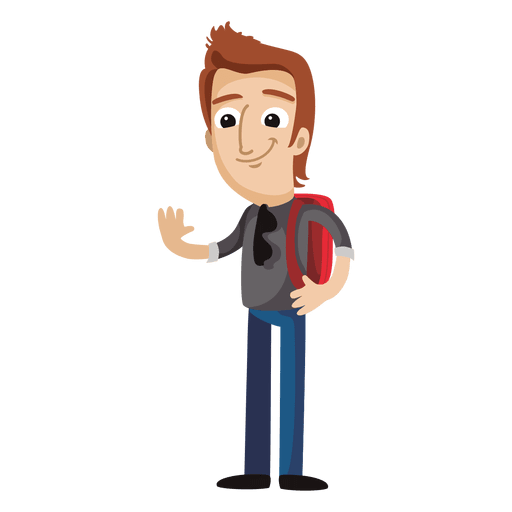 clipart freeuse stock Male student cartoon