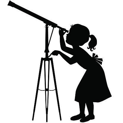 graphic black and white Free cliparts download clip. Looking clipart telescope.