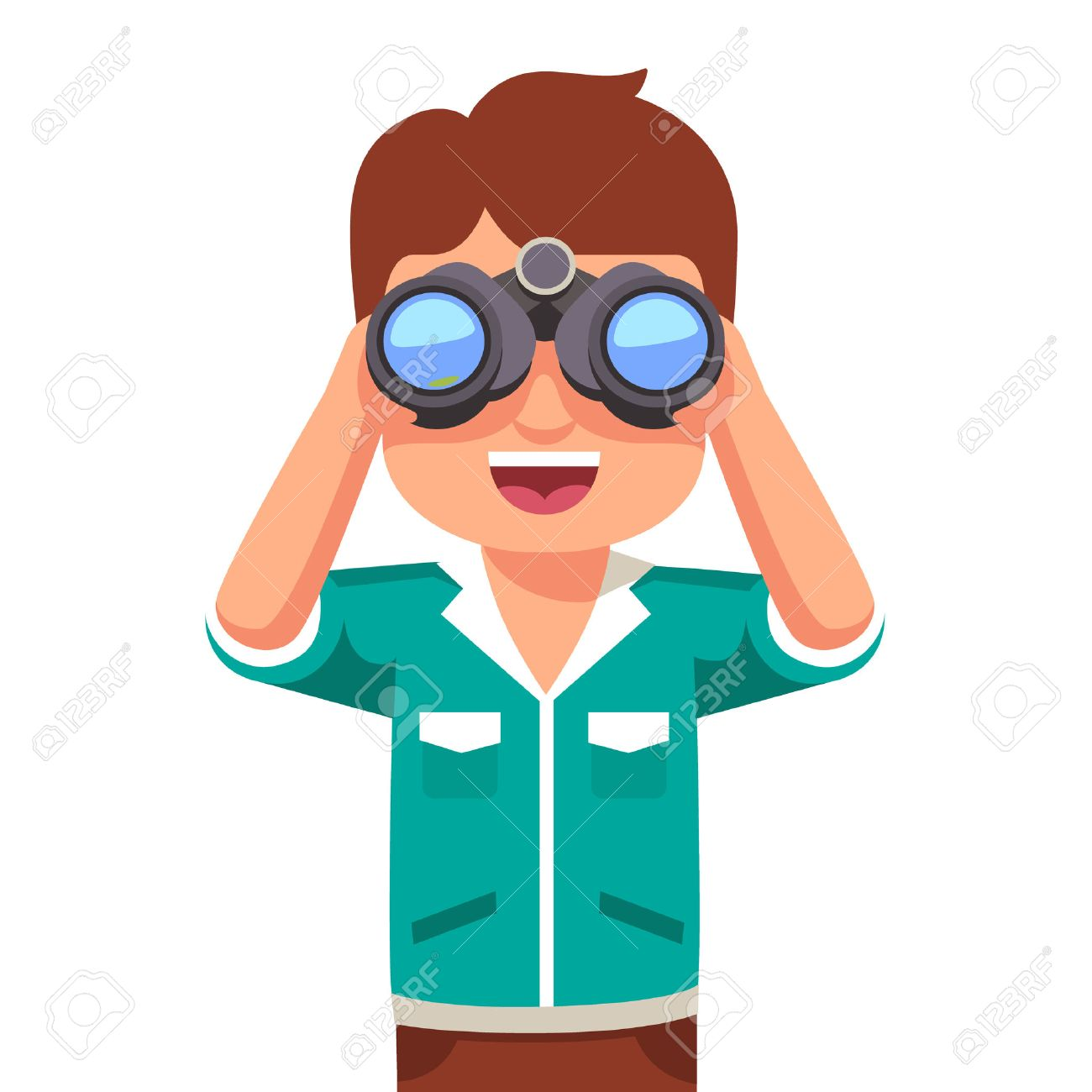 clip art free library Looking through binoculars clipart. Station