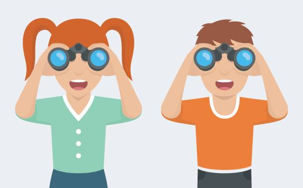 clipart black and white download Looking through binoculars clipart. Station