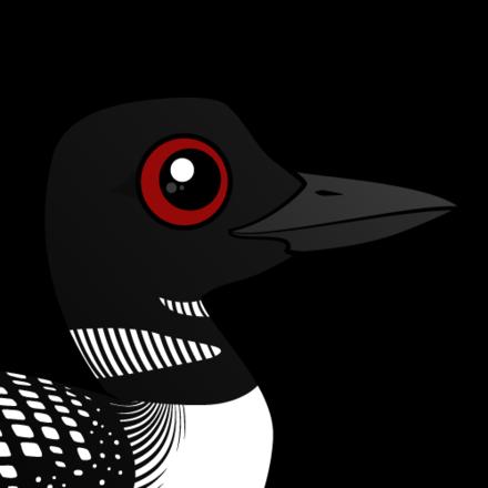 clip art Cute Common Loon by Birdorable