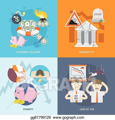 clip art download Vector illustration flat stock. Loss clipart economic crisis.