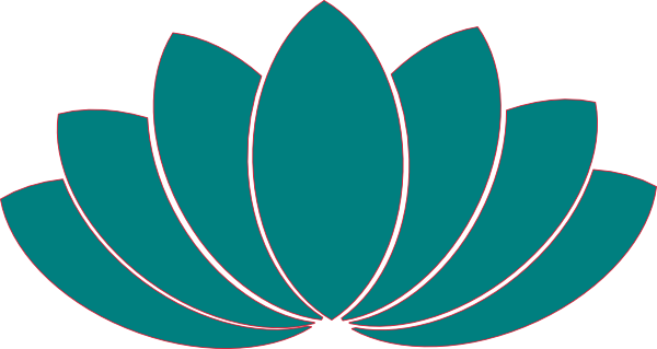 svg royalty free library Lotus clipart. Turquoise clip art at.